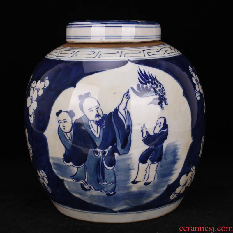 Pure checking porcelain of jingdezhen folk old man the way old POTS do old antique reproduction antique collection furnishing articles