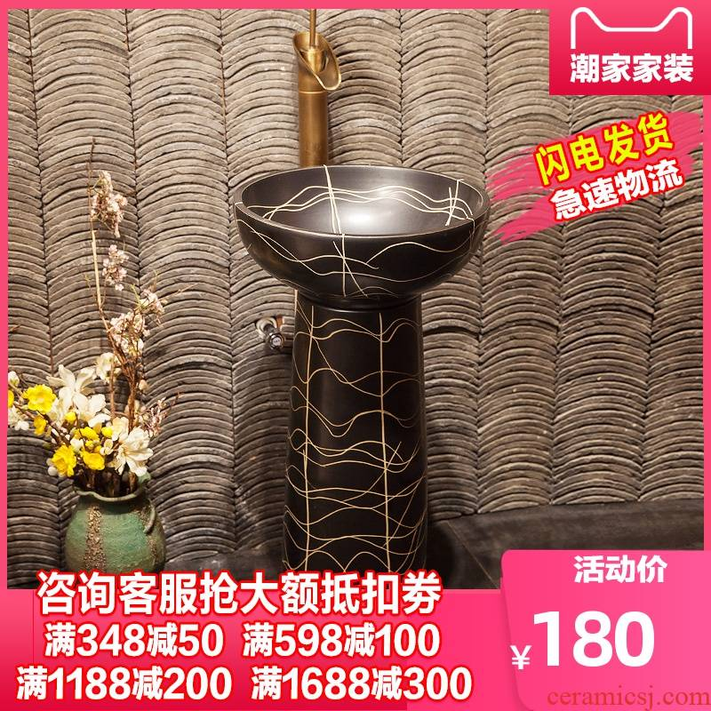 Tom king ceramic bowl lavatory floor balcony one toilet stage basin the post hand washing basin water waves