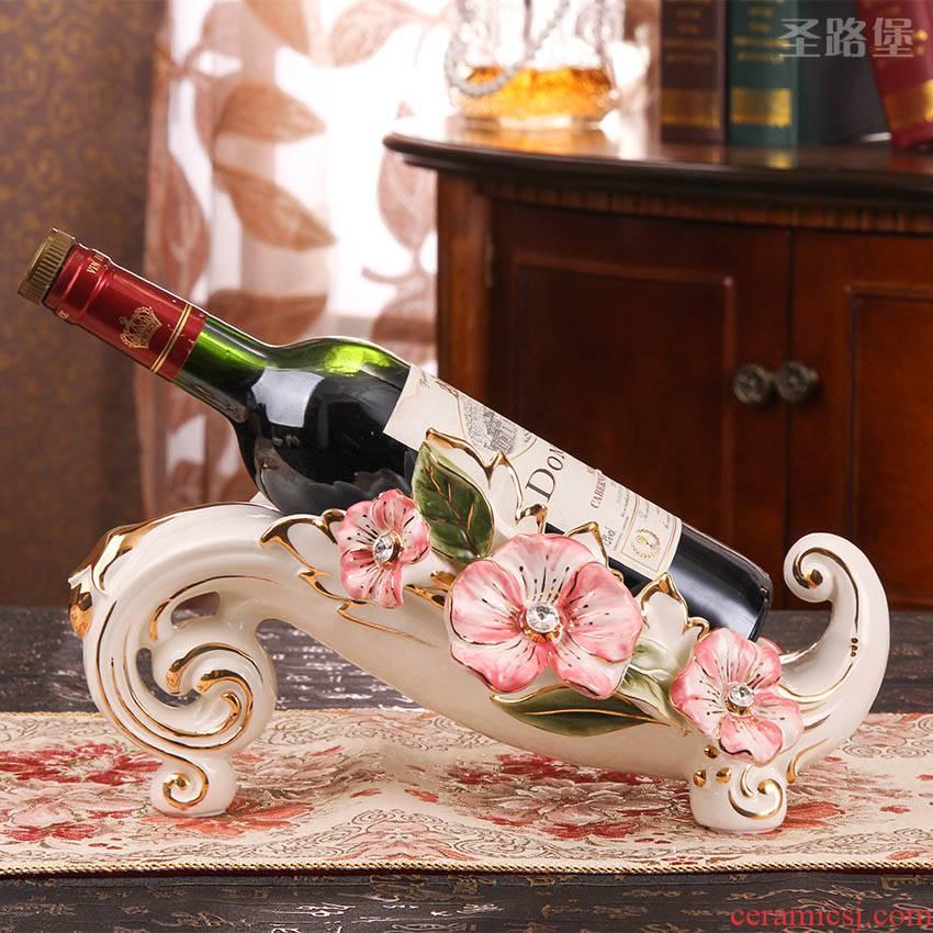 SAN road fort European ceramic wine racks wine accessories display sitting room adornment is placed creative wedding gift