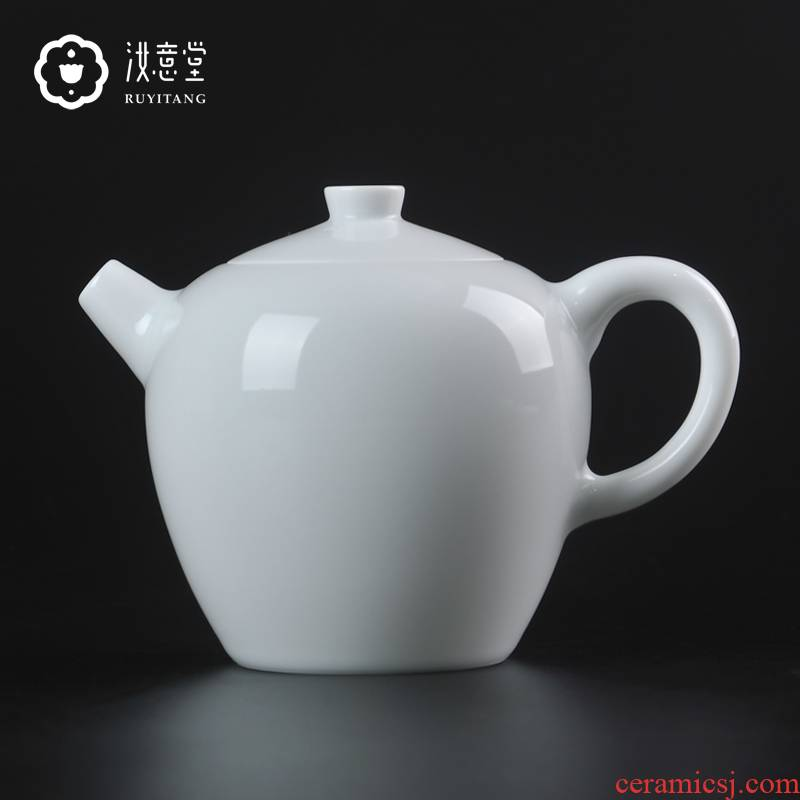 Jingdezhen ceramic teapot kung fu tea teapot small white porcelain single pot CiHu mini contracted beauty pot by hand