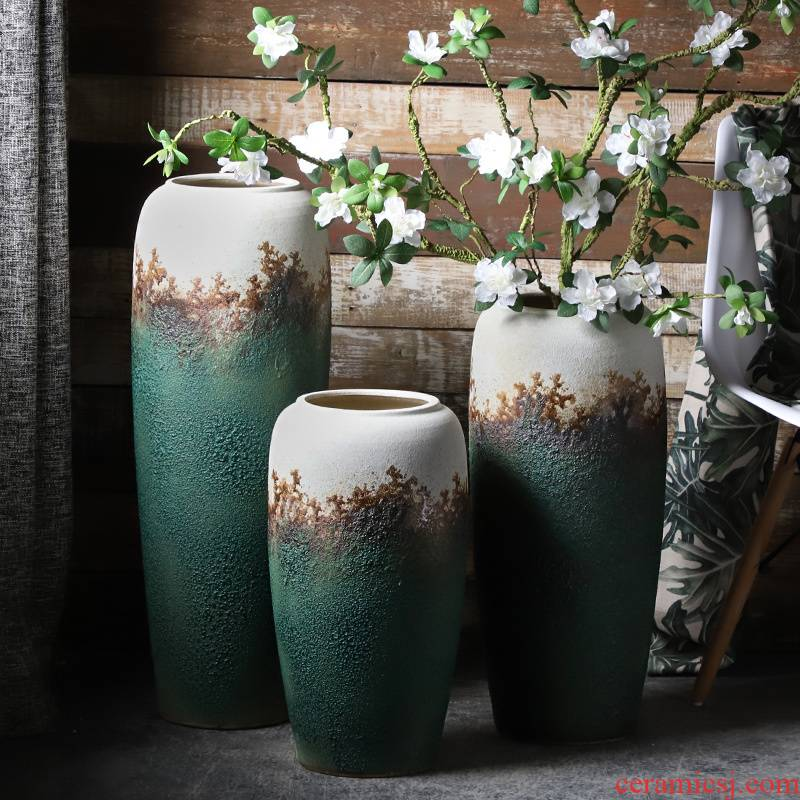 Jingdezhen ceramic furnishing articles contracted and I sitting room porch window flower arranging dried flowers hydroponics container European vase
