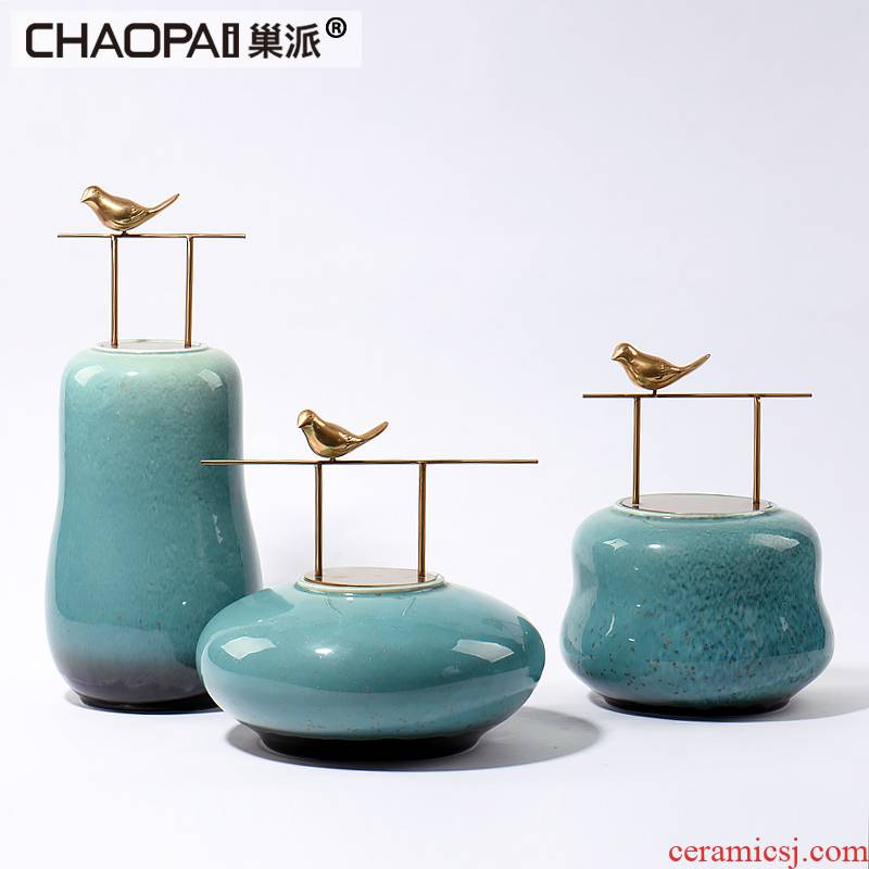 New Chinese style ceramic decoration can put American TV ark, wine sitting room porch place soft outfit household act the role ofing is tasted