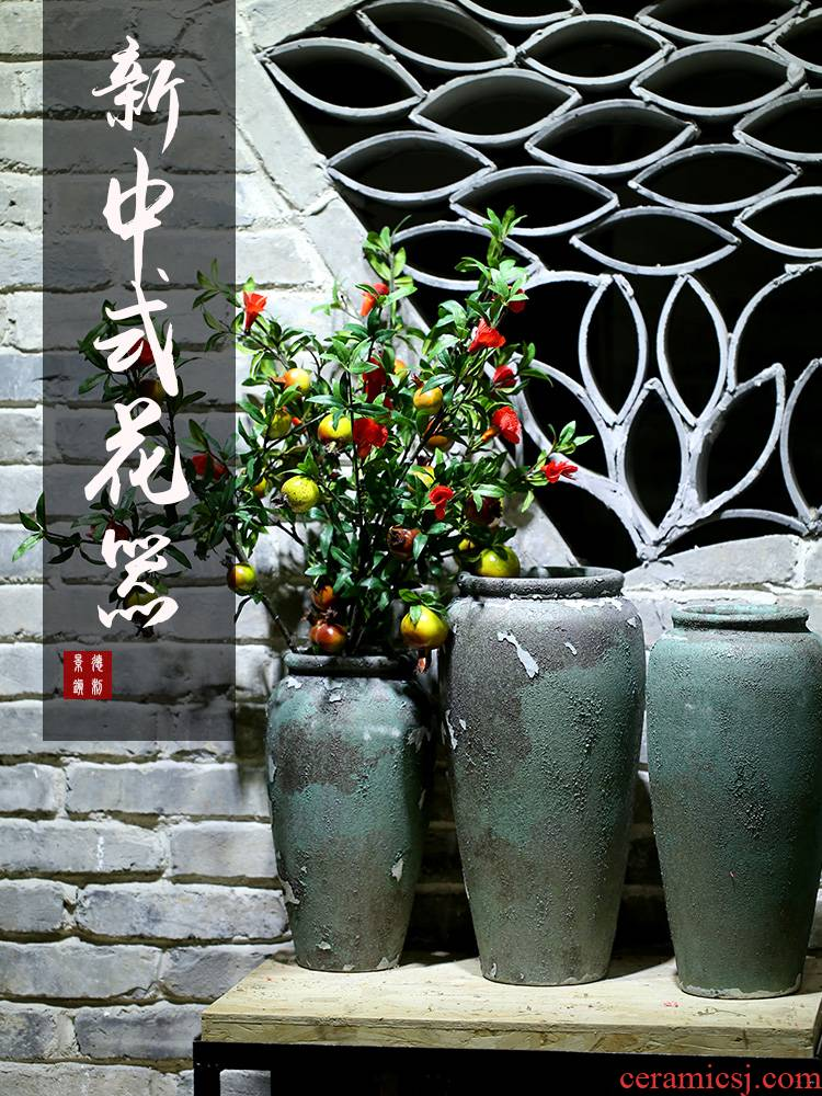 Ceramic vase Europe type restoring ancient ways the dried flower arrangement classical furnishing articles hotel club villa sitting room be born Nordic coarse pottery