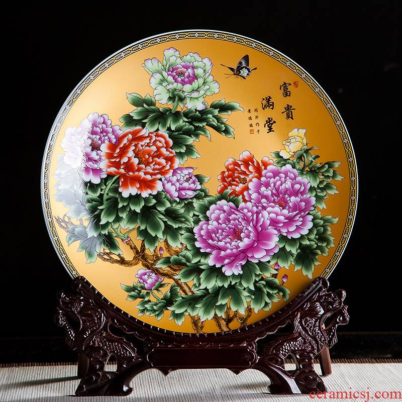 Chinese jingdezhen ceramics with a silver spoon in its ehrs expressions using the and decorative hanging dish sit home wine rich ancient frame handicraft furnishing articles