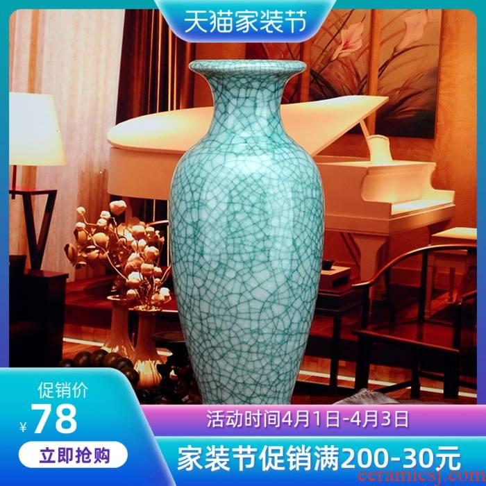 Porcelain of jingdezhen ceramics hydroponic vase sitting room flower arranging American vase fake flowers, vases, creative furnishing articles