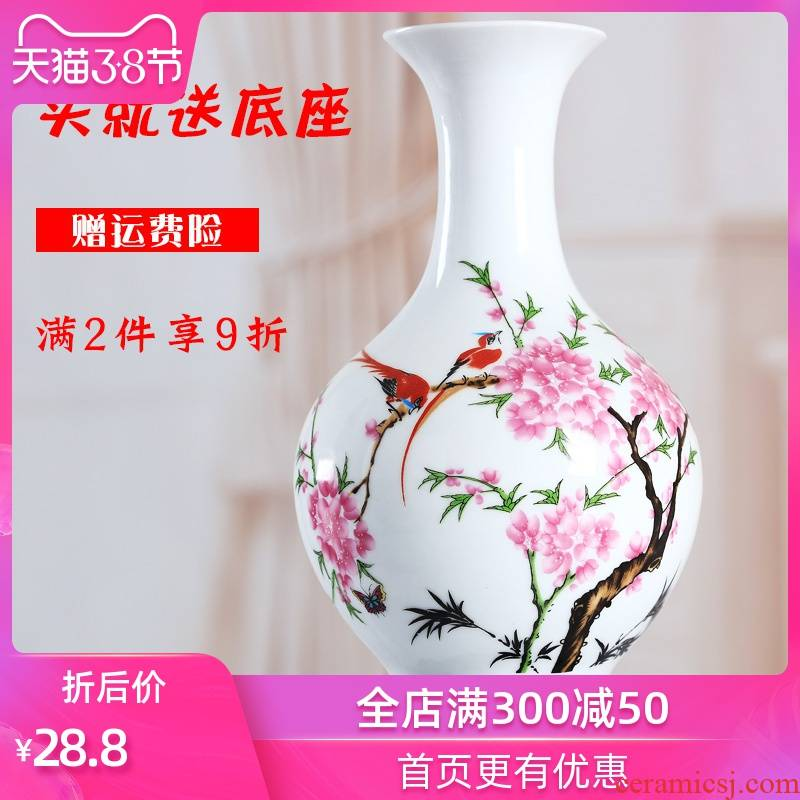 Furnishing articles household act the role ofing is tasted sitting room of I and contracted creative ceramic dry flower art flower arranging Chinese office desktop vase