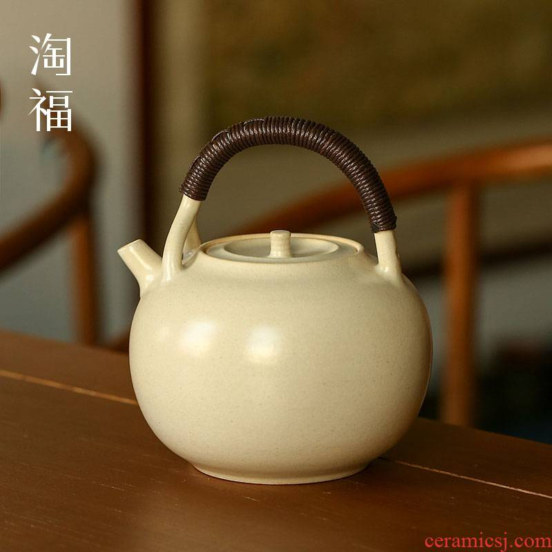 Ceramic teapot single girder pot pot domestic large capacity boiling tea stove tea kettle teapot tea set