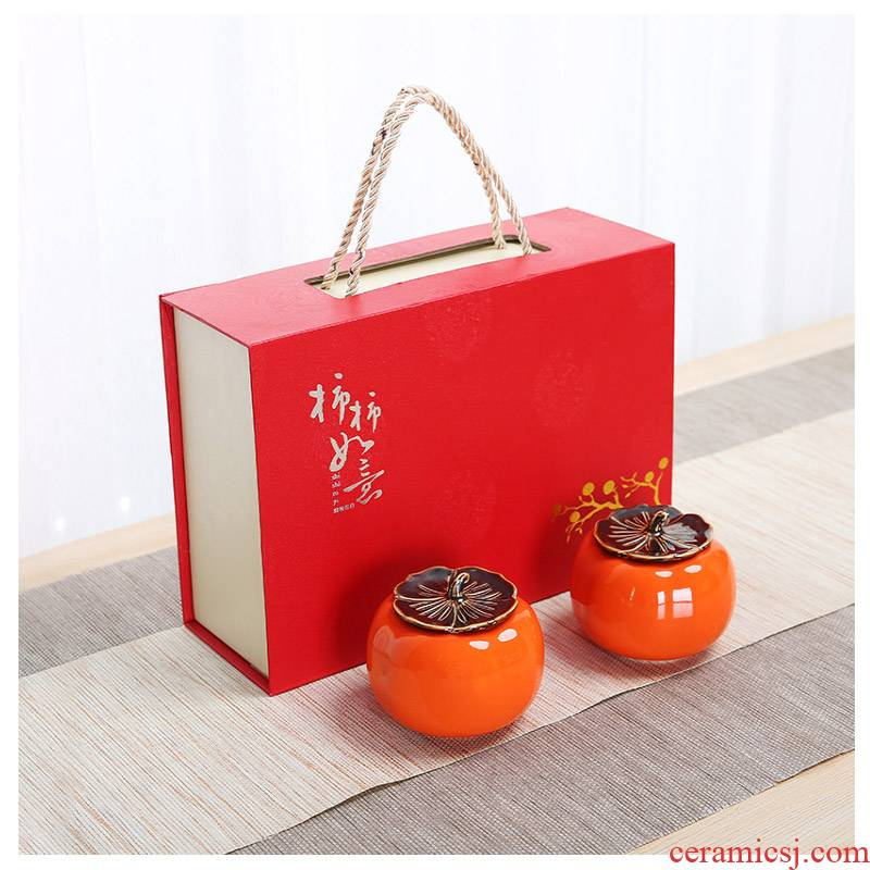 Ceramic ashtray with cover household ashtray gift - giving gifts creative move windproof office persimmon ashtray
