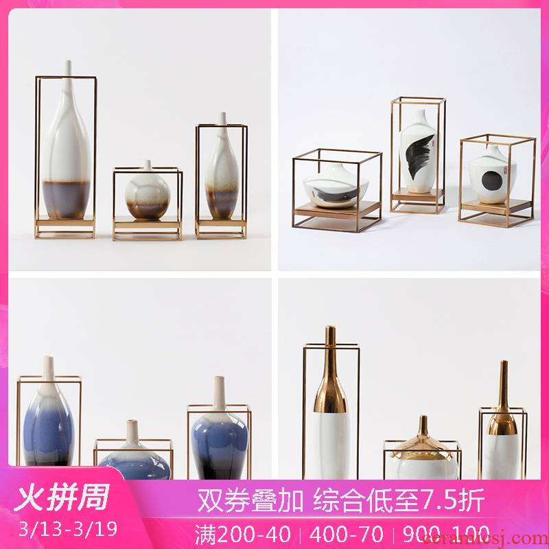 New Chinese style is I ceramic pot furnishing articles television wine sample room to live in the sitting room porch porcelain soft decoration