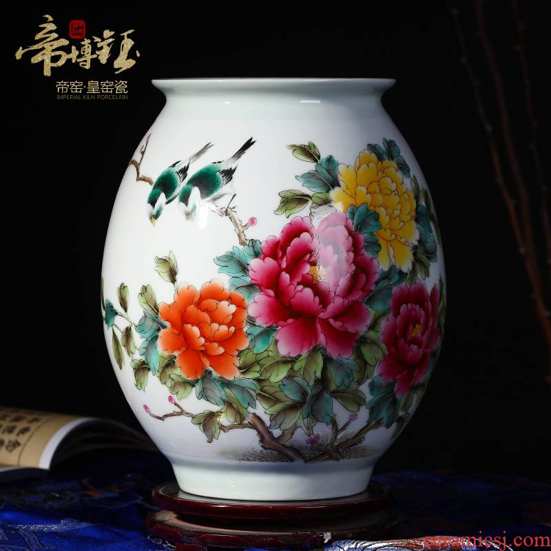 The Master of jingdezhen ceramics hand - made pastel riches and honour figure vase sitting room porch rich ancient frame home decoration furnishing articles