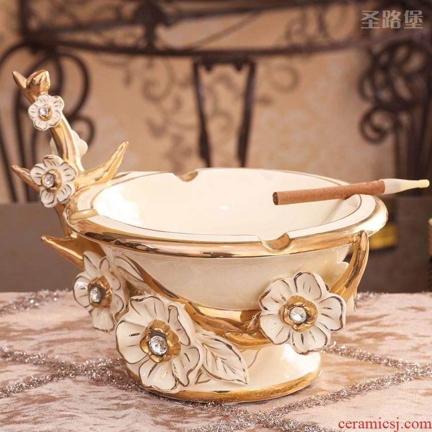 Ceramic European fashion creative ashtray ashtray European furnishing articles large sitting room tea table ashtray