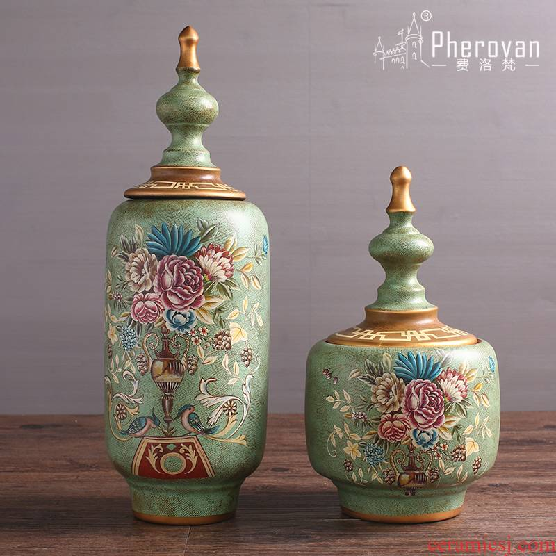 American retro storage tank general pot ceramic furnishing articles creative living room home decoration art decoration