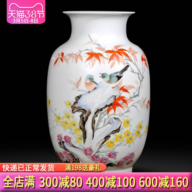 The Master of jingdezhen ceramics hand - made pastel vases, flower arrangement of Chinese style household adornment handicraft furnishing articles sitting room
