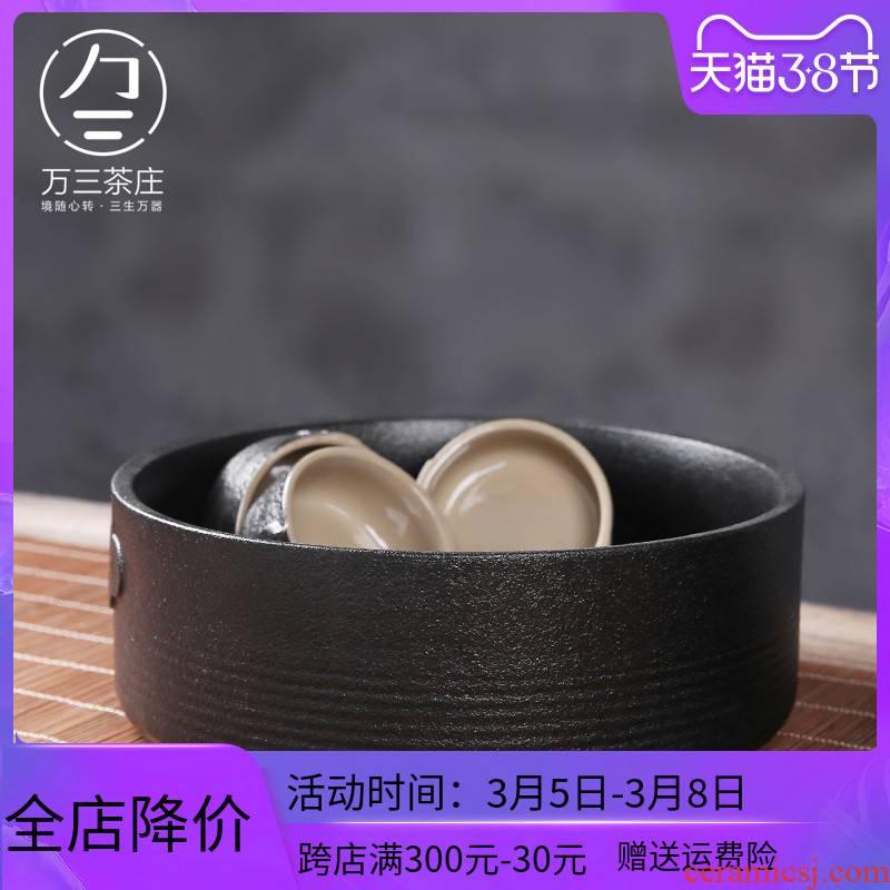 Three thousand ceramic tea tea village writing brush washer wash washing household kung fu tea accessories zero with a water jar for wash bowl
