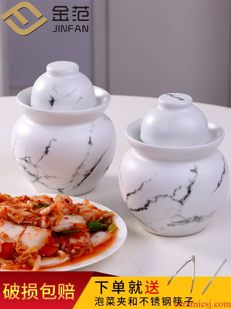 Jingdezhen ceramic seal pickle jar jar thickening storage tank sichuan pickles pickle jar of household pickle jar