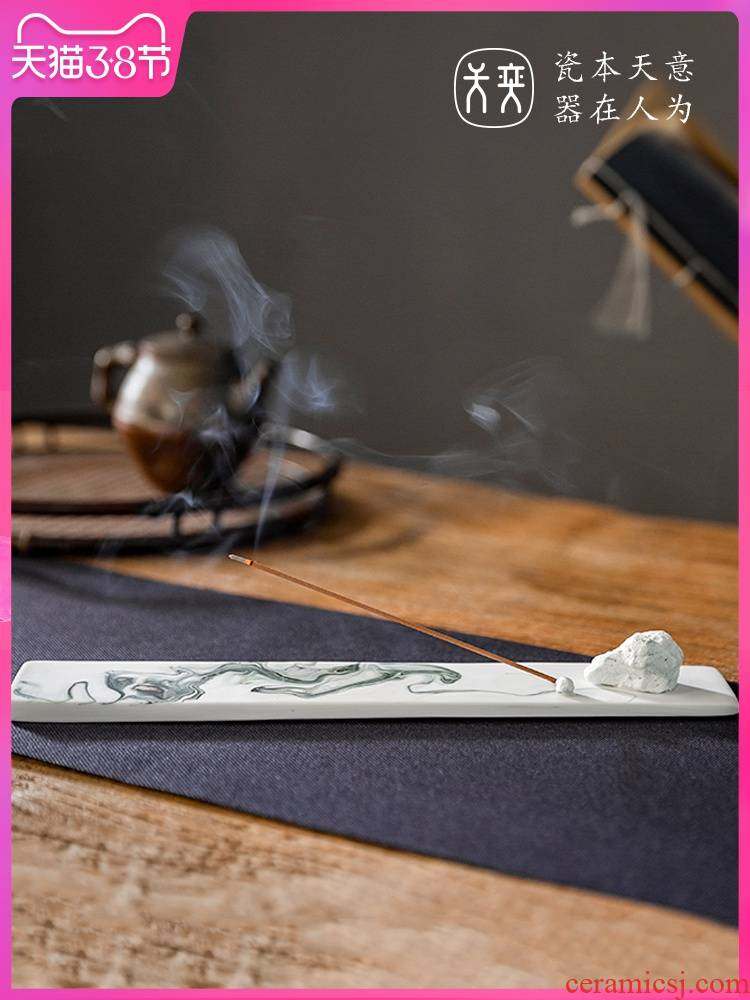 """""""Ink painting"""" joss stick inserted incense is the present day yi ceramics incense incense seat sit new Chinese teahouse creative furnishing articles"""