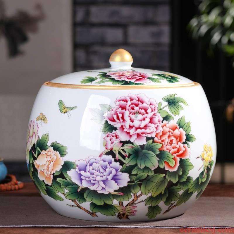 Jingdezhen ceramics pu 'er tea box of bread that receives seven large store can receive tea POTS of tea cake