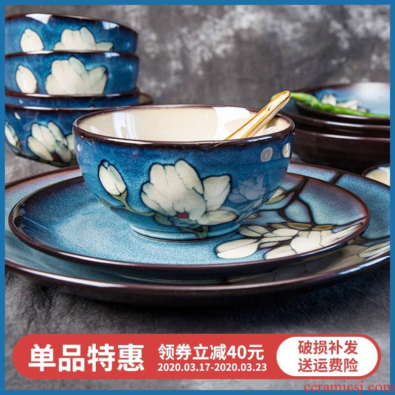 Xin LAN yuquan 】 【 Korean rice bowls with a single large soup bowl rainbow such use ceramic tableware dish dish dish soup plate