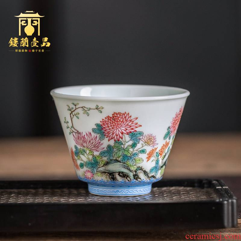 Jingdezhen ceramic all hand - made by masters cup kung fu tea set porcelain teacup full single CPU to use individual cup of tea