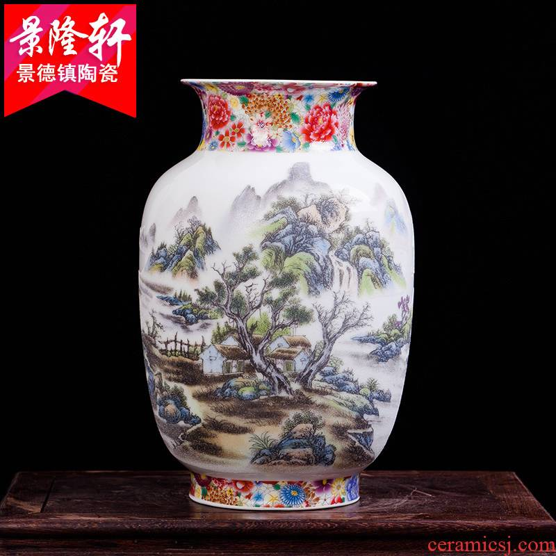 Archaize of jingdezhen ceramics powder enamel modern Chinese style household act the role ofing is tasted furnishing articles vases, flower crafts are sitting room