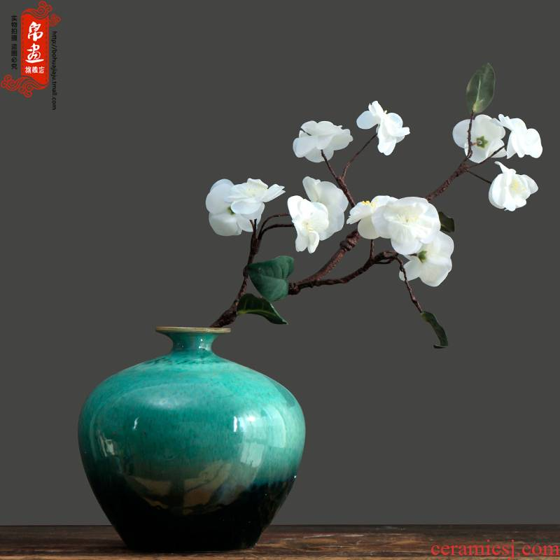 Jingdezhen ceramic coarse pottery small cut flower I and contracted sitting room of dried flowers flower arrangement furnishing articles manually restoring ancient ways is variable