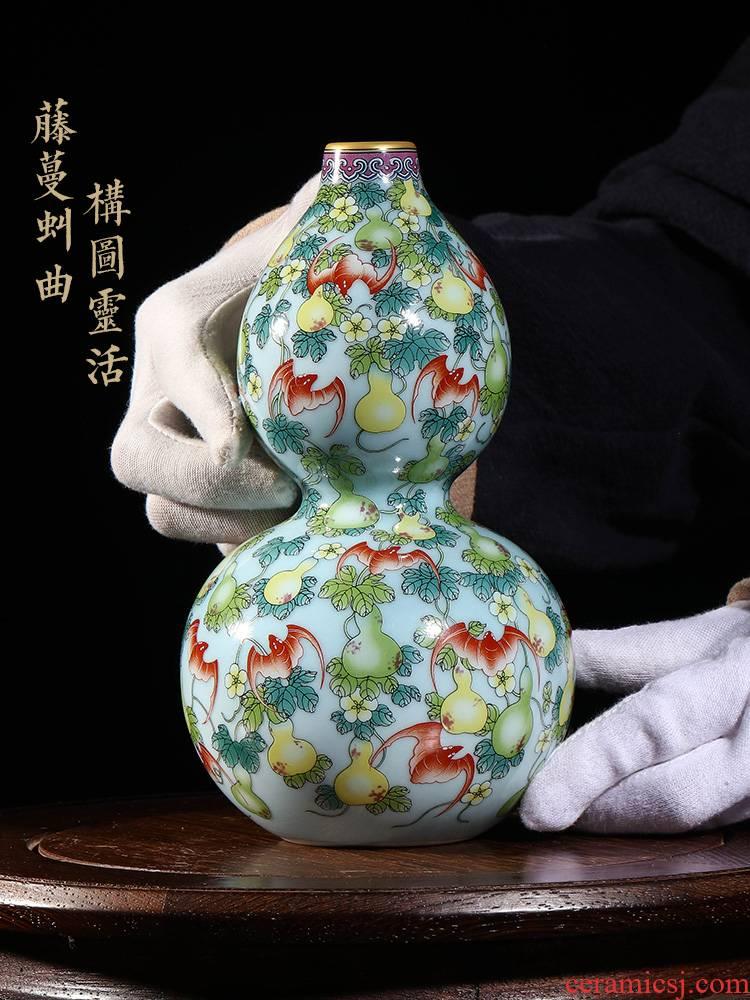 Jia lage jingdezhen ceramic Chinese penjing YangShiQi the qing qianlong enamel see ten thousand broke gourd bottle