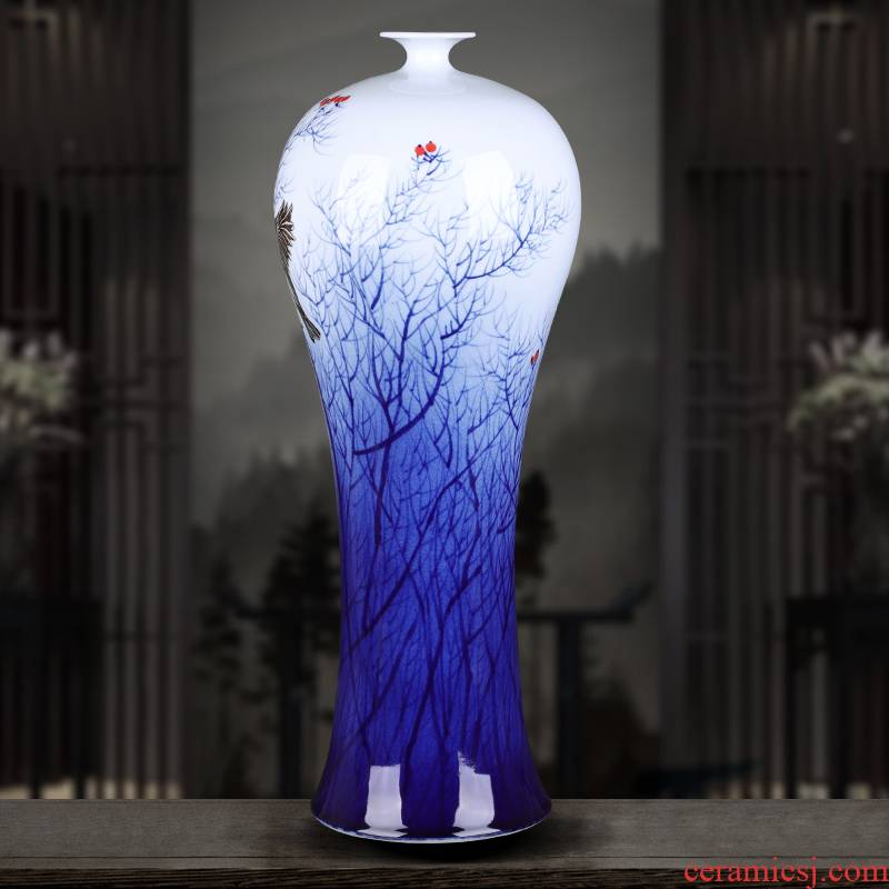 The Master of jingdezhen chinaware big vase hand - made luck mei bottled act the role ofing is tasted furnishing articles present club hotel