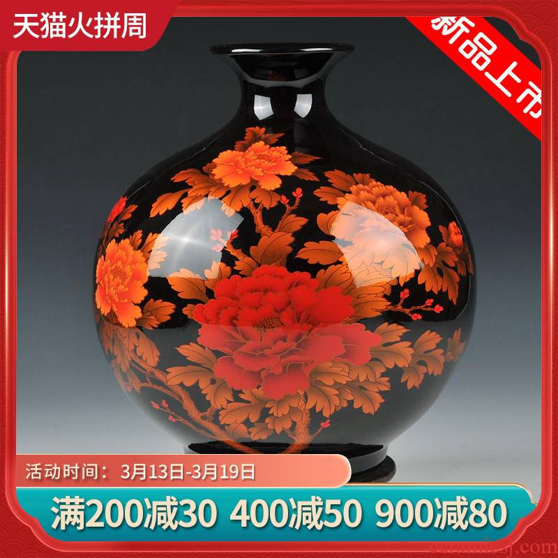 Jingdezhen ceramics flower arranging furnishing articles of modern Chinese vase decoration of home sitting room porch decoration wine
