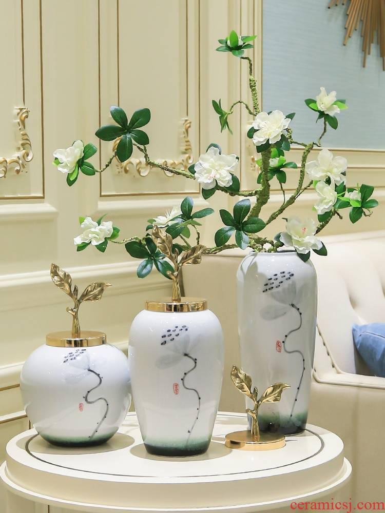 New Chinese style ceramic vase simulation TV ark adornment flowers the sitting room porch decoration table flower flower implement furnishing articles