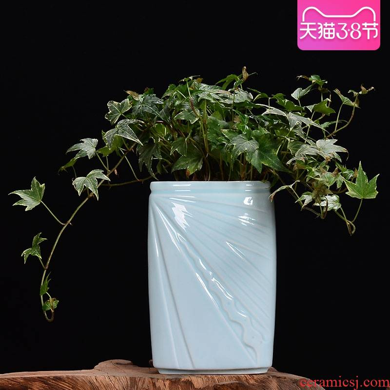 Square ceramic flower POTS triangle large money plant celadon orchid pot pot meat meat, green potted the plants, fleshy