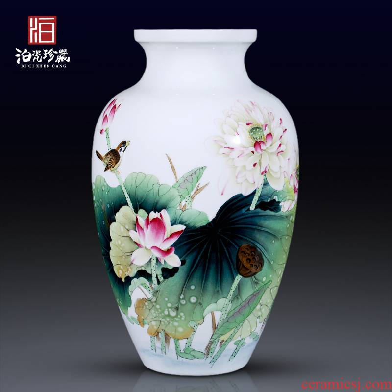 Jingdezhen ceramic furnishing articles hand - made vases, flower arranging new Chinese TV ark of I sitting room adornment handicraft furnishing articles