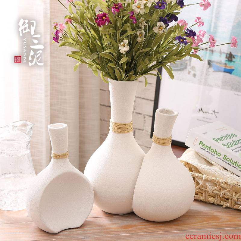 Ins the vase the white ceramic dry flower contracted modern flower arrangement home sitting room place fine expressions using the vase