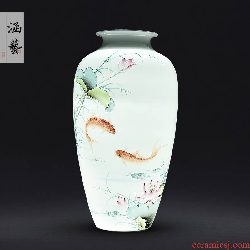 Ceramic vase Chinese style porch sitting room study bedroom jingdezhen porcelain vase decoration gifts for years