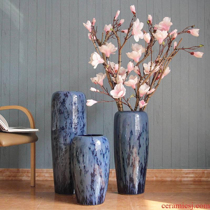 Ceramic floor big vase vase color glaze up in modern European sitting room hotel villa place big vase