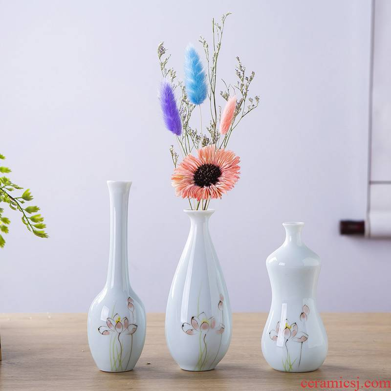 New Chinese style ceramic vases, flower arranging flower implement teahouse tea place of the sitting room porch for anddrunkenness dried flower decorations