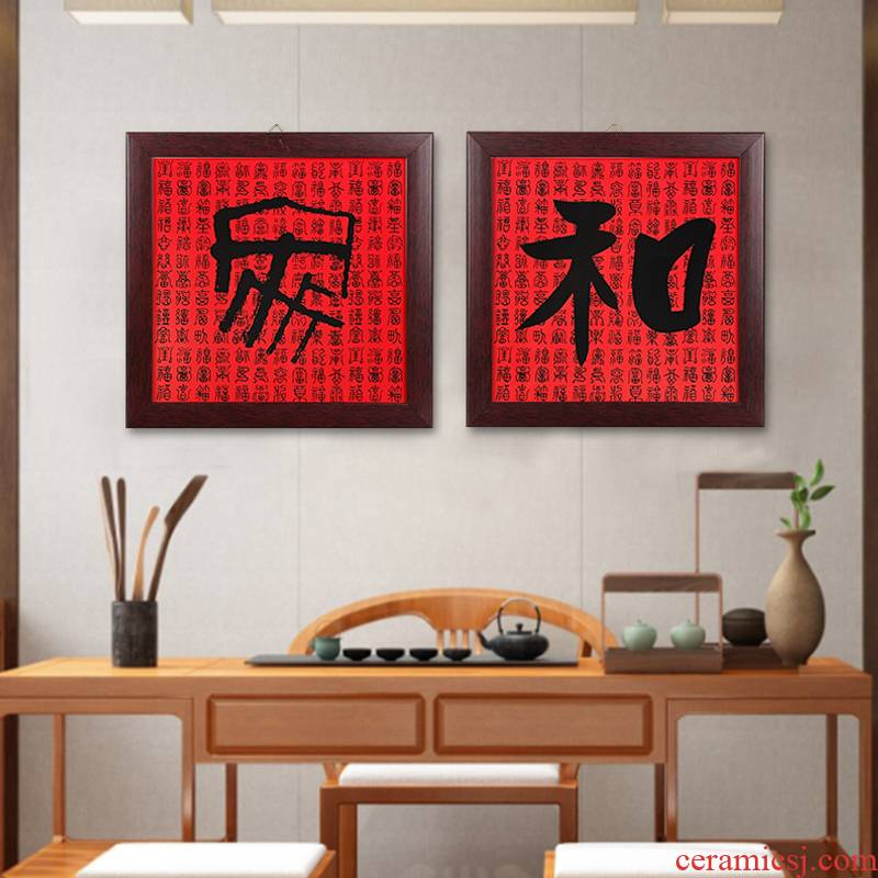 Jingdezhen ceramic crystal porcelain painting the background of the new Chinese style household wall of corridor porch light painting and decoration decoration painting porcelain plate