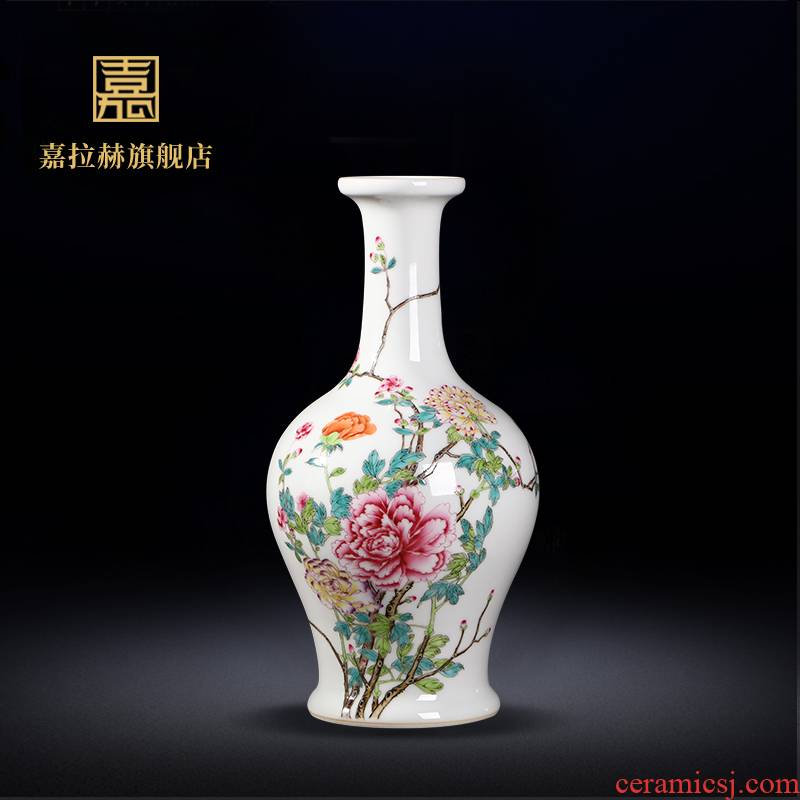 Jia lage archaize of jingdezhen ceramics powder enamel peony vases, home furnishing articles ceramic home sitting room adornment