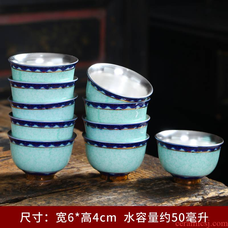 The Sample tea cup ceramics jingdezhen blue and white porcelain cup individual hat to single CPU kung fu tea master hand made small tea cups
