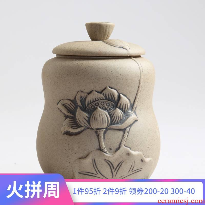 Is Yang coarse pottery ceramic POTS awake piggy bank seal tea caddy fixings puer tea as cans packaging