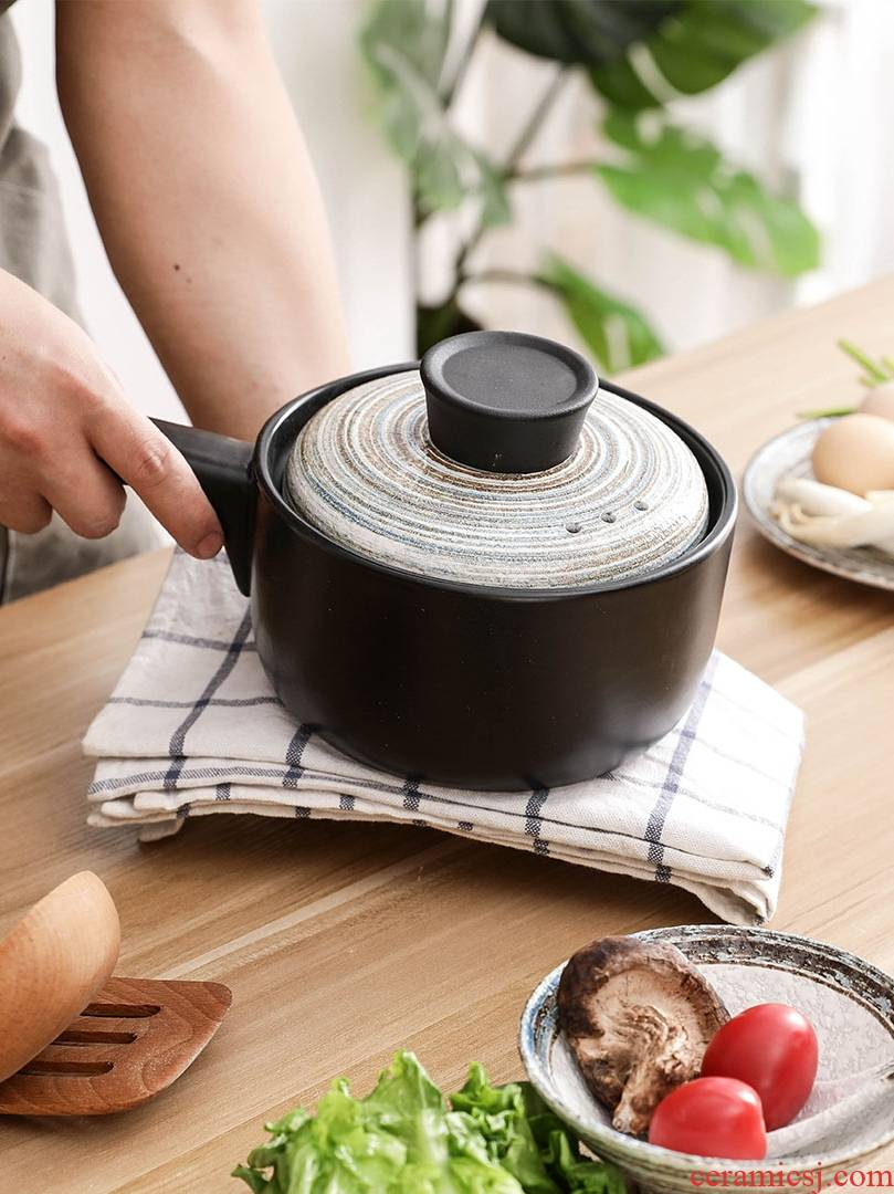 Hand - made ceramic casserole stew soup home casserole stew, household gas high temperature resistant congee sand pot