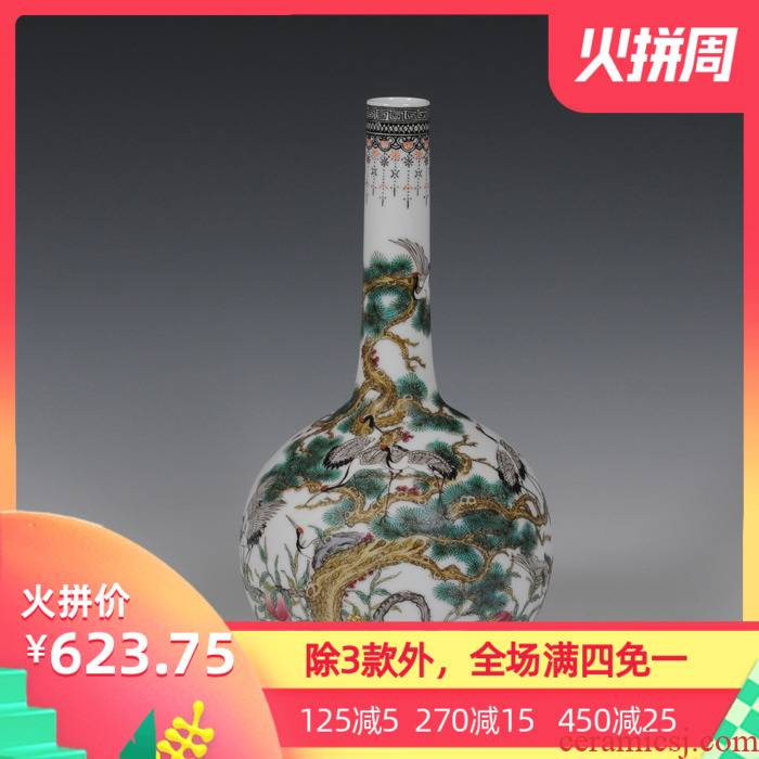 The Master of jingdezhen ceramics hand - made famille rose porcelain vase gall bladder classical household adornment handicraft furnishing articles