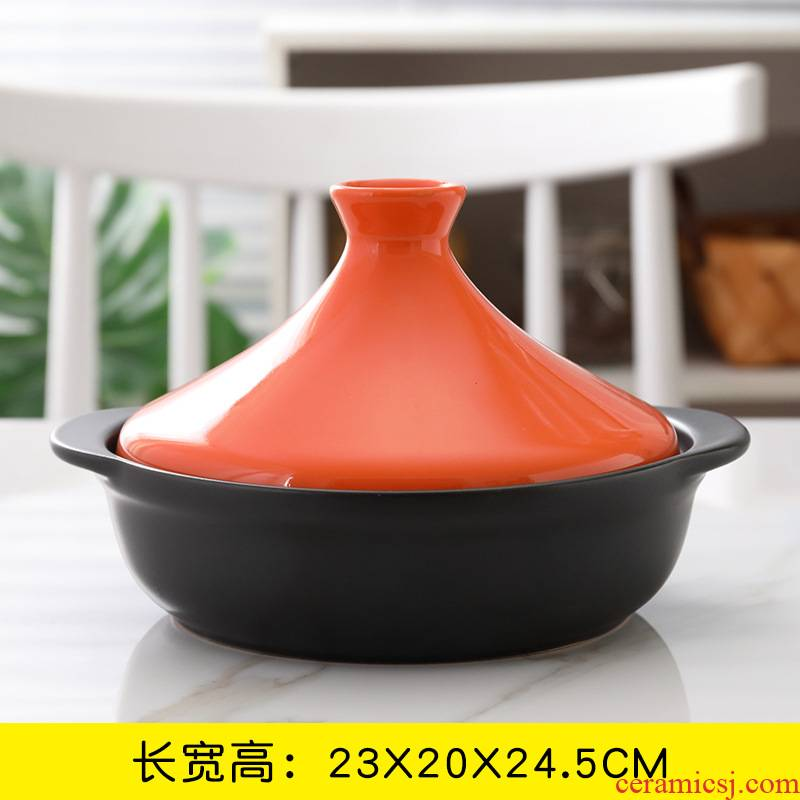Soup rice casseroles, household small saucepan high - temperature hot pot stone bowl ltd. ceramic flame burn Korean shallow POTS dry