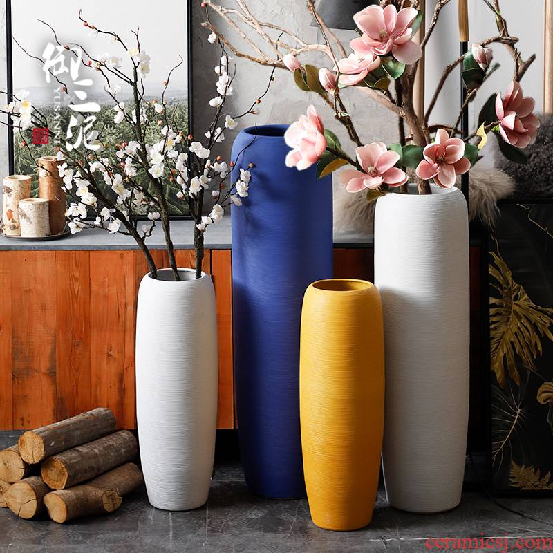 Nordic vases, flower arrangement sitting room be born place fake flowers I and contracted simulation ceramics morandi dry flower decoration