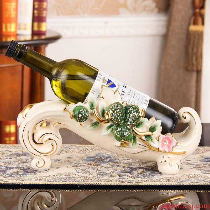 European creative wine rack furnishing articles home sitting room, dining - room of TV ark, wine ceramic decoration housewarming gift