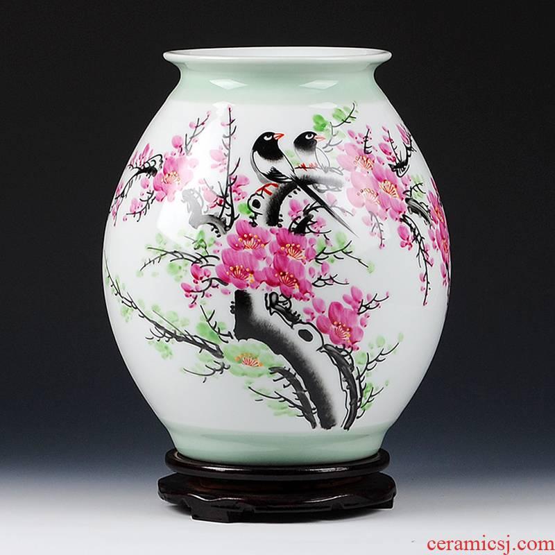 Jingdezhen ceramics celebrity virtuosi master hand - made beaming vase furnishing articles flower arrangement sitting room adornment