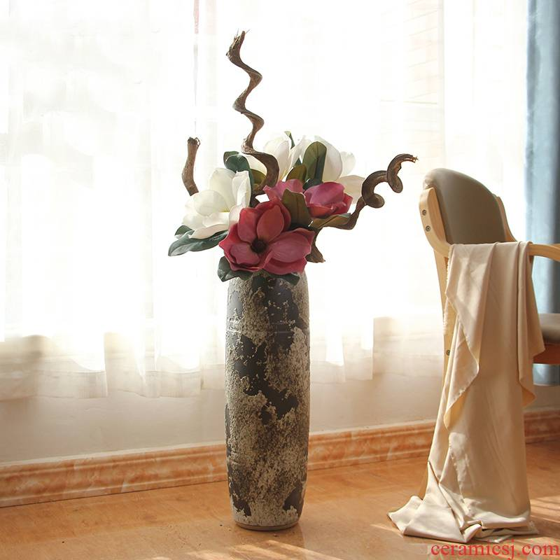 Do old Chinese style restoring ancient ways is coarse insert some ceramic pot vase landed study adornment furnishing articles soft floral outraged example room