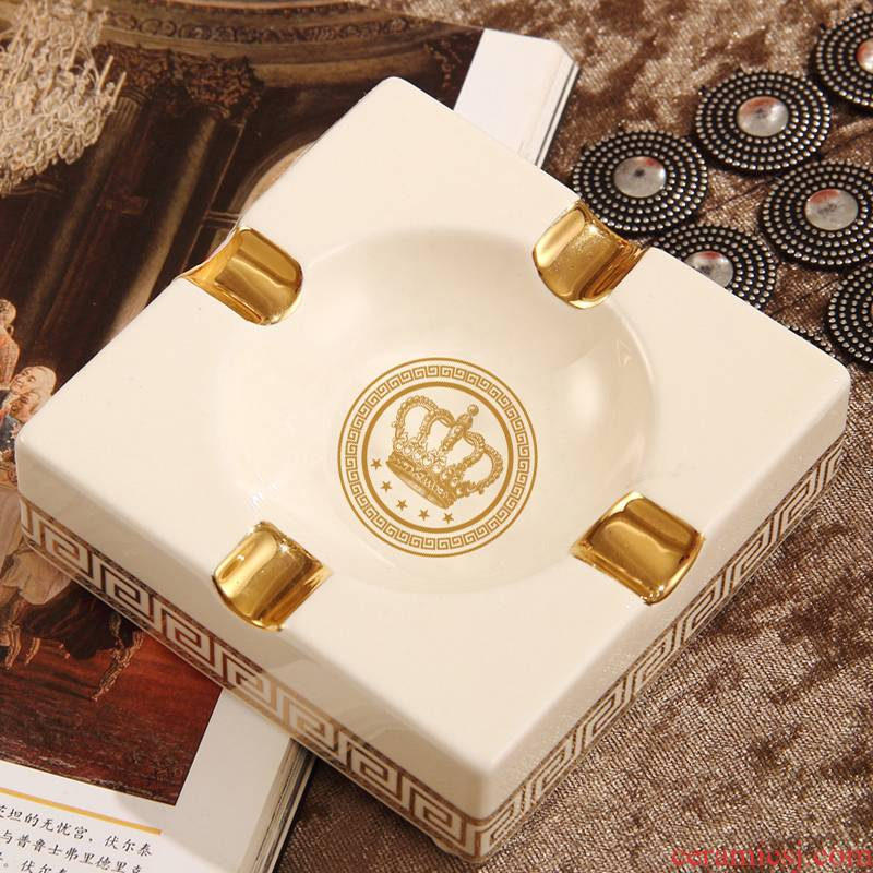 Davao creative European ceramic ashtray large fashionable sitting room tea table ashtray decoration home furnishing articles