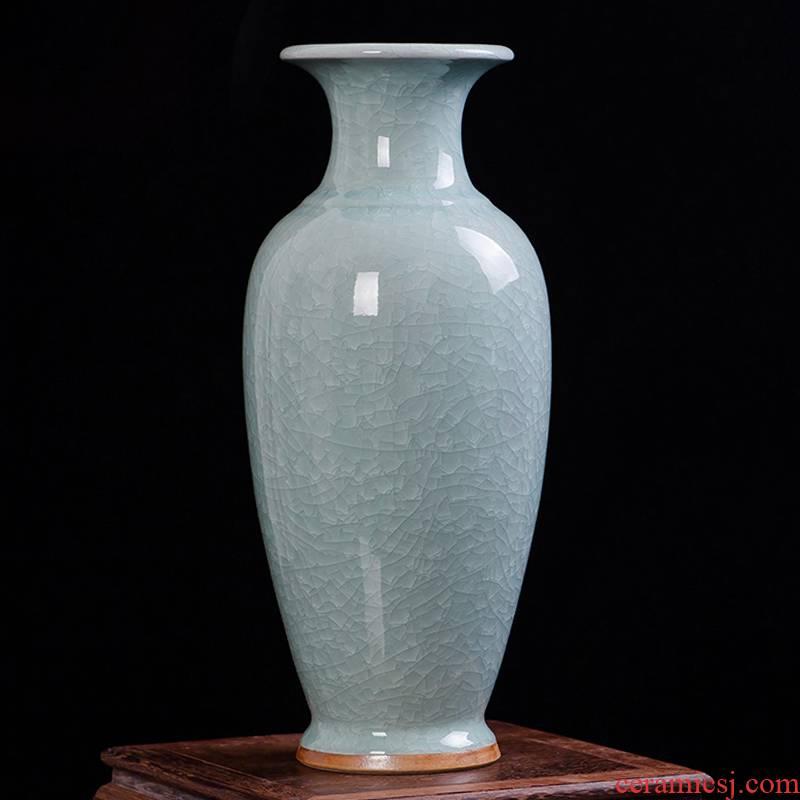 Jun porcelain of jingdezhen ceramics antique piece of large vase large fish bottle of modern home living room decoration