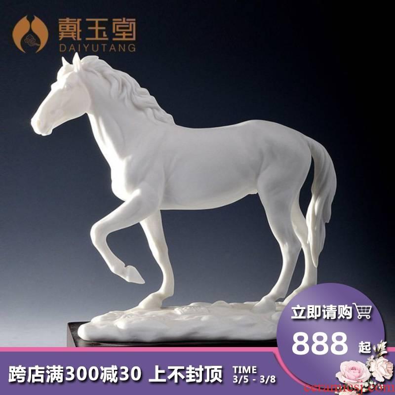 Yutang dai jian - quan Lin master horse home furnishing articles/holiday business gifts ceramic its popping D07-02