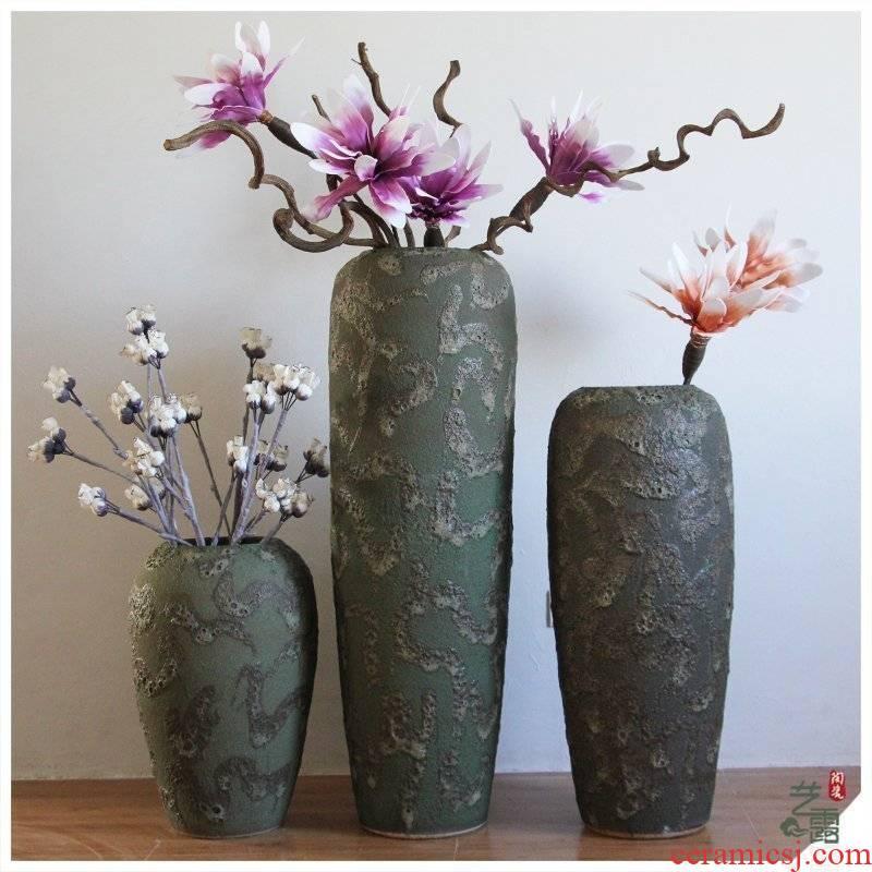 Southeast Asia, restoring ancient ways do old POTS of large cylinder ceramics vase vase decoration ceramic cylinder home sitting room